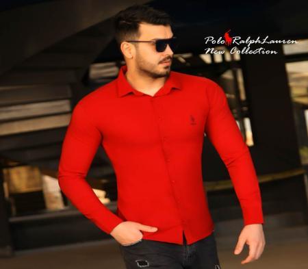 پیراهن مردانه Polo (قرمز)
